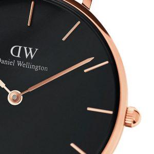 Đồng hồ DW nữ Classic Petite Bristol Black Rose Gold