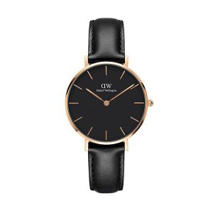 Đồng hồ DW nữ Classic Petite Sheffield Black Rose Gold