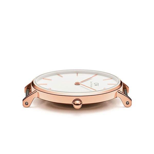 Đồng hồ DW nữ Classic Petite Sheffield White Rose Gold