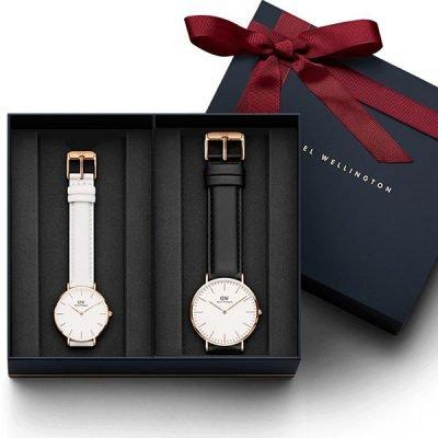 Đồng hồ cặp DW Classic Petite Bondi & Sheffield White Rose Gold