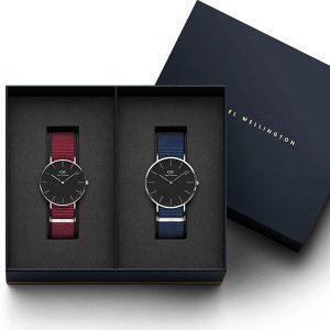 Đồng hồ cặp DW Classic Petite Cornwall & Bayswater Black Rose Gold
