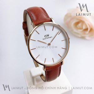 Đồng hồ cặp DW Classic Petite Durham White Rose Gold