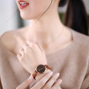 Đồng hồ cặp DW Classic Petite St Mawes Black Rose Gold