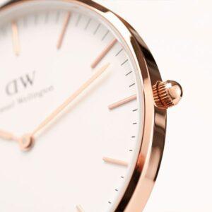 Đồng Hồ DW Chính Hãng Classic White Rose Gold