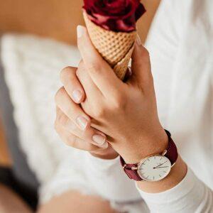 Đồng Hồ DW Chính Hãng Classic Roselyn White Rose Gold